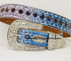 #Purple And #Blue #Rhinestone #Belt  $40.00 http://www.blingtack.com/product/purple-and-blue-rhinestone-belt/