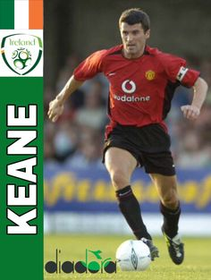 Football Cards, Football Players, Baseball Cards, Roy Keane, Everton Fc, Vintage Football, Manchester United, Ireland, Soccer