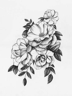 Top 50 gorgeous yet delicate flower tattoo designs Kunst Tattoos, Skull Tattoos, Body Art Tattoos, Tattoo Drawings, Girl Tattoos, Sleeve Tattoos, Tatoos, Zodiac Tattoos, Jasmin Tattoo