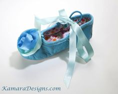 Blue Princess Slippers, super cute for a princess themed party!