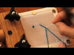 Learn the Needlepoint Basketweave stitch with Stephen.