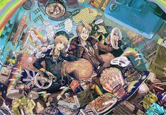 by kyo - It's like Hoarders Hetalia-style!  (Sealand's stuck in the junk in the back!<3) - America / England