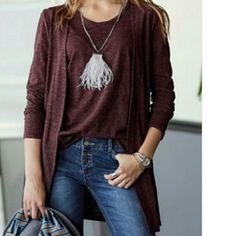 Cardigan Top Set ~Eggplant color ~One size fits most  ~I have 2 sets left Savvy Styles Boutique  Sweaters Cardigans