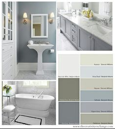 LOVE The Bathroom Color. Choosing Bathroom Wall And Cabinet Colors {Paint  It Monday} The Creativity Exchange