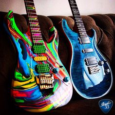 Check out this amazing custom paint job from @vintagetone_  on the #Ibanez Jem Learn to play guitar online at www.studio33guitarlessons.com