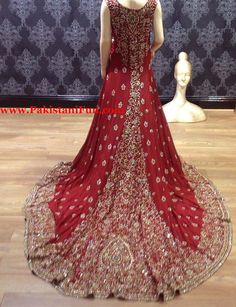 pakistani bridal wear 2014 | Fancy Maxi Wedding Dresses in Pakistan – Best Maxi Dress 2014
