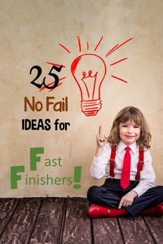 "Don't miss these NO FAIL fast finisher ideas to keep your students learning....even when they're ""done""!"