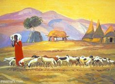Le Bon Berger  (The Good Shepherd)  The sheep know his voice.