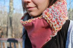 I love this cozy neck warmer by BlackWolfWovens