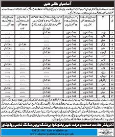 Jobs in Industries Department KPK 20 Feb 2018 Daily Mashriq