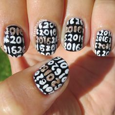 StephsNailss: New Years Eve Nails with tutorial!