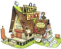 Caídas de gravedad, misterio cabaña - juguete de papel - papel DIY Craft Kit - modelo 3D figura de papel de Gravity Falls