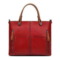 Oferta: 29.99€. Comprar Ofertas de VANCOO dama Tote Bolsas Bolsos para mujer Ladies Large Tote Bag Faux Leather 001 barato. ¡Mira las ofertas!