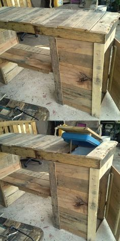 Pallets Table Ice
