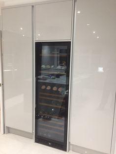 Kitchens Stevenage Home - Kitchen Ergonomics Designed and installed Under Counter Lighting, Cabinet Space, Hidden Storage, French Door Refrigerator, Storage Solutions, Creative Design, Pear, Kitchen Appliances, Japanese