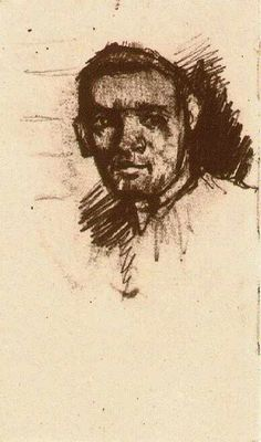 Vincent van Gogh: Head of a Young Man, Bareheaded. Drawing. Nuenen: December - January, 1884/85. Amsterdam: Van Gogh Museum.