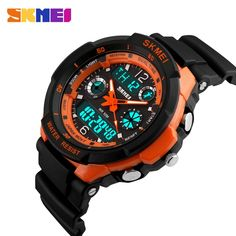 SKMEI Luxury Brand Men Sports Watches Digital Led Sport Wristwatches Water Resistant Relogio Masculino For Mens Quartz Watch-. Elegant Watches, Stylish Watches, Cool Watches, Watches For Men, Unusual Watches, Luxury Watches, Smartwatch, Popular Watches, Swiss Army Watches