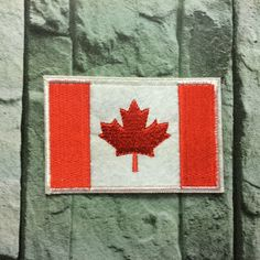 New to craftapplique on Etsy: Canada Flag Embroidery patches patch Embroidered patch iron on patch sew on patch 5.58.5cm A64 (2.50 USD)