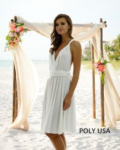 bcc806bcb8 POLY USA - Convertible dress - Style 7020 - One beautiful dress with many  different styles