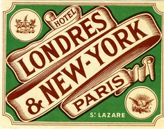 Just learned about this fabulous collection of vintage hotel luggage labels from The Silver Lining Blog, which is quickly becoming one of my new favorite aesthetic pleasures. Great vintage design f…