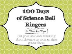 100 Days of Bell Ringer Activties for Middle School. #science #middle school #exit pass #bell ringer