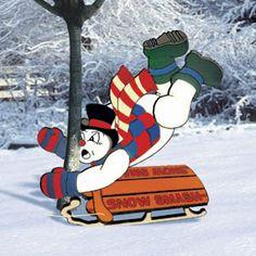 11-1052 - Snowman Tree Smash Woodworking Plan