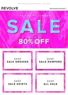Revolve Sale #Newsletter #Email #Sale