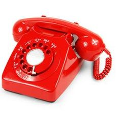 Red Retro Telephone...  We had one of these set up at my Granny's house that had the same # as our print shop, so that when my parents would go to see Granny, they could also take care of business...lol.  CPC Hotline...lol.