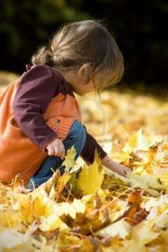 Autumn is time to enjoy the simple things. . . like children playing in the autumn leaves. . .