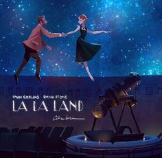 Cute La La land illustration