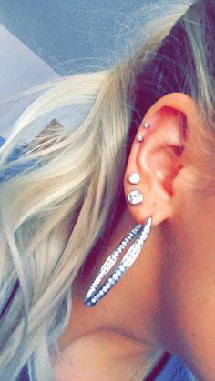 Double cartilage piercing
