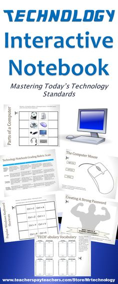 Get students involved in taking notes and understanding the technology that they encounter and utilize every day with this Technology Interactive Notebook!