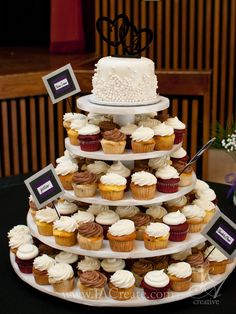 12 Best Cupcake Wedding Cakes Images Wedding Cakes Wedding