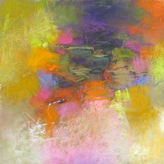 Abstraction with Pink pastel by Debora L. Stewart
