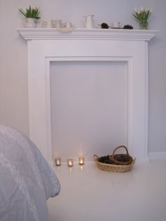 DIY Faux Fireplace- The Beautiful Nest
