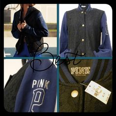 Spring Sale Vs Pink Blue Varsity Jacket Spring Sale Vs Pink Blue Varsity Jacket This fun and stylish medium weight jacket is great for a chilly spring night! PINK Victoria's Secret Jackets & Coats