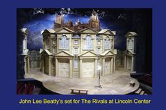 John Lee Beatty - The Rivals. Lincoln Center.