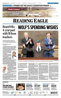 Today's front page. Feb. 7, 2018