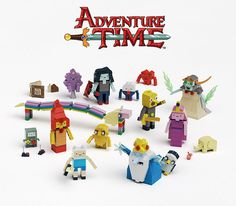 The crazy imagination of the Adventure Time TV is a great match for Lego. The Brick-built Adventure Time Figures includes 15 Brick-Build Figures that total… Lego Adventure Time, Adventure Time Characters, Lego Dc, Adventure Time Personajes, Big Bang Theory Set, Dc Comics, Land Of Ooo, Fans, Lego Design