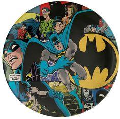 Zak Designs DC Comics Batman Dinner Plate by