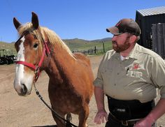 Brad Hunt, manager of Hardware Ranch, enjoys wildlife and working with horses. Read more in this Herald Journal article. (Photo by Eli Lucero)