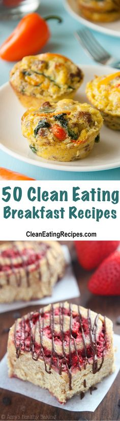 50 of the Best Clean Eating Breakfast Recipes - I love how there is an image for every recipe and a link to click to get the recipe. It's like having my next 50 days of breakfasts all planned out!