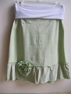 Ruffle T-Shirt Skirt --- MOM...
