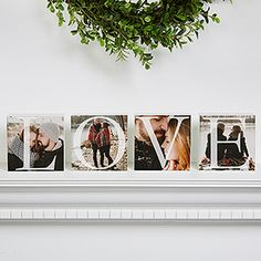 These Personalized LOVE Photo Shelf Blocks are awesome! You can upload any 4 photos! This is a perfect Valentine's Day Gift or Anniversary Gift idea .. it would make the perfect Valentine's Day Mantel décor every year!