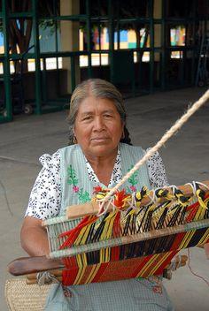 America - Mexico, Zapoteca weaver