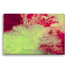 Gallery Direct Abstract Pink Lemonade by Lisa Fabian Graphic Art on Wrapped Canvas Size:
