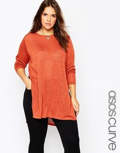 Find the best selection of ASOS CURVE Tunic With Split Side In Cut & Sew. Shop today with free delivery and returns (Ts&Cs apply) with ASOS! Asos Curve, Pretty Outfits, Cute Outfits, Pretty Clothes, Fall Outfits, Curve Tops, Plus Size Kleidung, Moda Plus Size, Plus Size Fashion For Women
