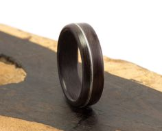 The Man's Ring Handmade Ebony and Guitar String by Ebeniste, $175.00