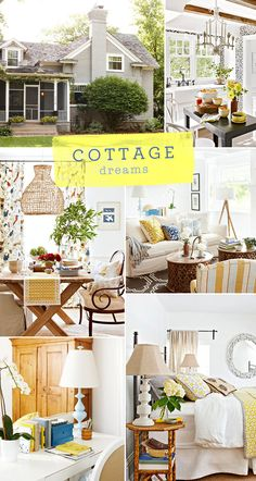 I love my open spaces but I also love the idea of a petite cottage with beautiful light and rustic textures. I adore this cottage tour I came across on Better Cozy Cottage, Cottage Living, Cottage Homes, Cottage Style Decor, Cottage Decorating, Cool Rooms, Great Rooms, Big Bush, Shabby