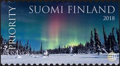 Arctic Circle, Marimekko, Great Pictures, Aurora Borealis, Science And Nature, Postage Stamps, Finland, Denmark, Norway
